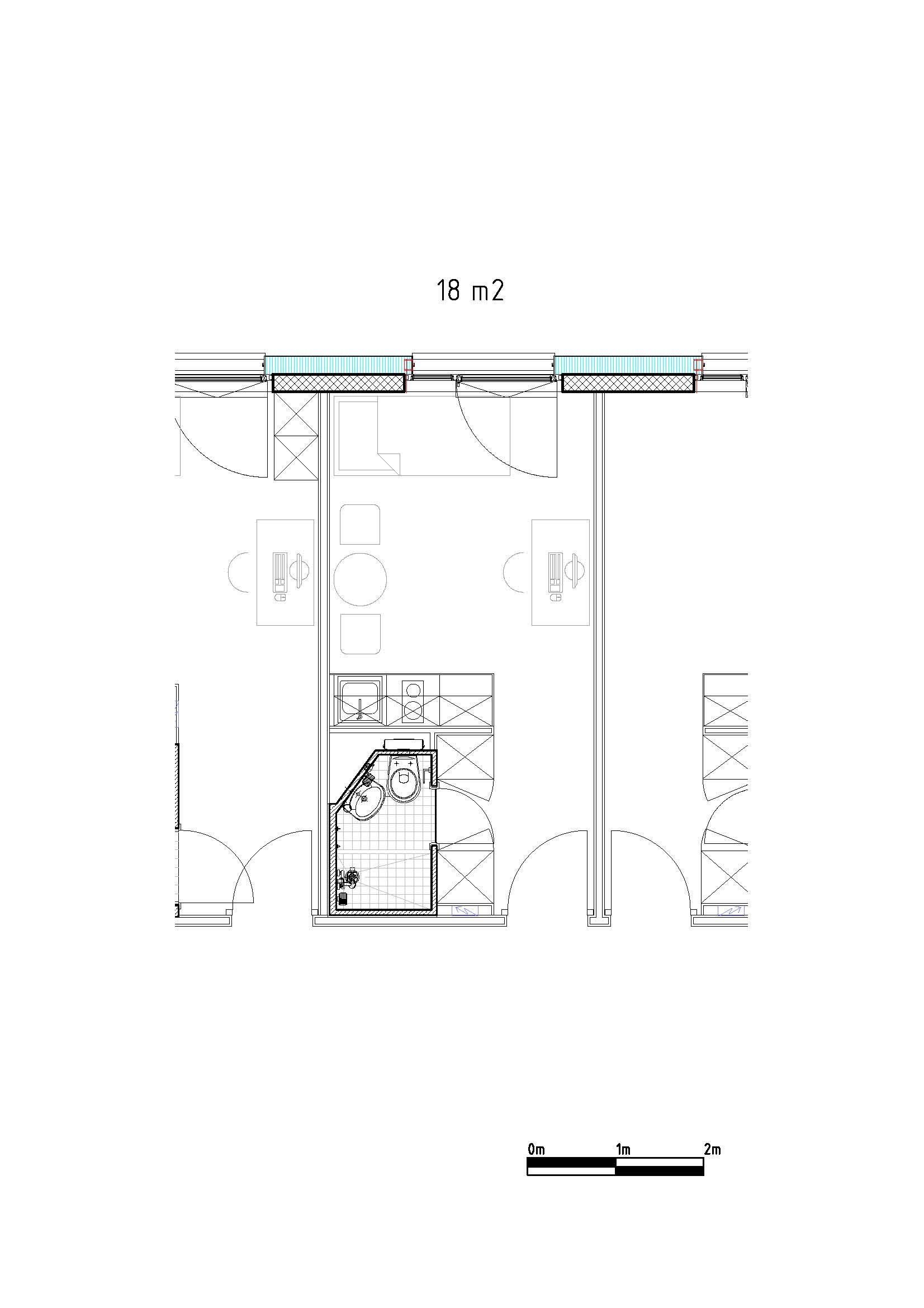 Haldimand plan studio 18m2